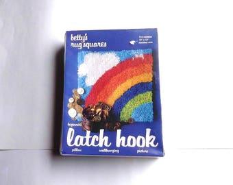 1978 Rainbow Latch Hook Rug Kit Sealed
