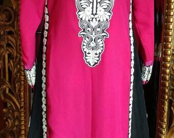 Vintage Middle Eastern Indian Embroidered Dress