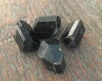 Small Raw Black Tourmaline, healing gemstone, grounding, root chakra