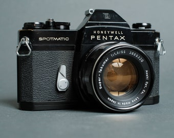 Asahi Pentax Spotmatic SP II 35mm SLR w/ Super Takumar 55mm f/1.8  film tested!