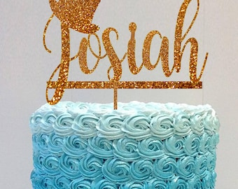 Personalized Birthday Cake Topper Name Cake Topper Baby Shower Cake Topper Custom Name Cake Topper First Birthday Name Cake Topper