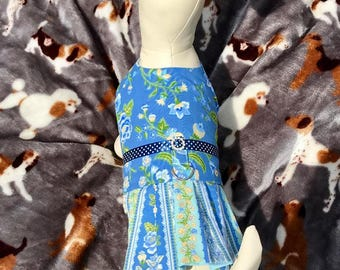 Blue Harness Dress Size Small
