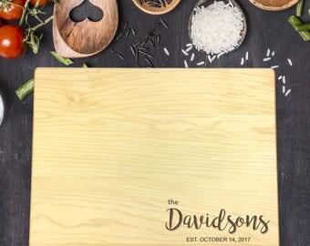 Cutting Board Personalized, Cutting Board Custom, Custom Name, Last Name, Housewarming Gift, Wedding Gift, Personalized Gift, B-0008 Rec
