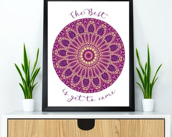 Mandala wall decor, Mandala poster, Mandala wall art, Yoga poster, Yoga wall decor, Meditation wall art, Relaxation wall decor, Mandala gift