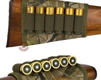 Cartridge Shell Holder Buttstock Hunting 12 gauge Shotgun Rifle Stock Cover