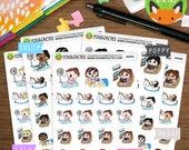 Summer Fun Kawaii Girls - Pool Day Hot Beach Swimming - Planner Stickers (K0059)