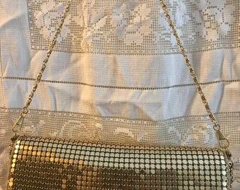 Gold Mesh Purse - Vintage Gold Mesh Evening Bag