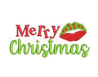 Merry Christmas Embroidery Design - Christmas embroidery - Holiday design - Machine embroidery design - INSTANT DOWNLOAD  3 SIZES