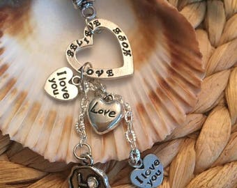 Love Dangle Necklace,I Love you & Believe,hope,love Pendents,Necklace