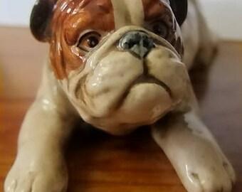 Vintage Enesco English Bulldog Design #E9402