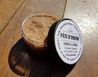 """Marzipan"", clay Exfoliating face scrub softening and nourishing almonds for delicious and dehydrated skin"