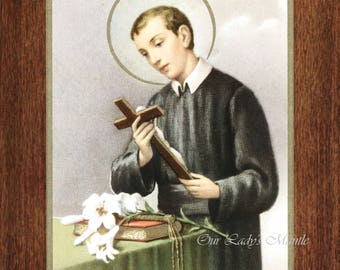 "Saint Gerard Majella, Patron of Expectant Mothers - 7"" x 9"" Unframed Vintage Catholic Print Picture from Italy"
