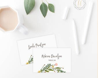 Wedding Place Card Template / Boho Wedding Place Card / Name Card / Escort Card / Instant Download / Table Number Card / DIY Printable #GPW
