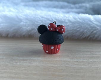 Minnie Cupcake Polymer Clay Charm