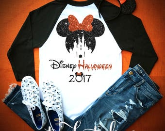 disney shirt - disney halloween shirt - mickey's not so scary party - disney world shirt -  disney vacation t-shirt - disney raglan shirt