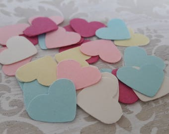 Pink, Blue Yellow Heart Table Confetti Bridal Shower Baby Shower Wedding Childrens Party Favors Table Decoration Confetti