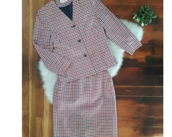 90s Pendleton 2 Piece Skirt and Jacket Suit Size S/M