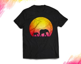 Elephant Shirt Men's Women's Elephant t-shirt, Elephant gifts, Elephant lover, Animal lover, Mother's day gift, Father's day gift #0206