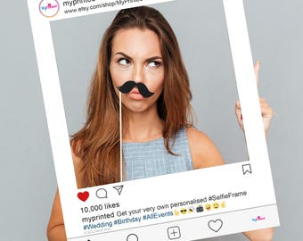 FULLY PRINTED New Instagram style personalised Selfie Frame