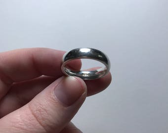 Vintage Thick 925 Sterling Silver Band Ring