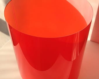 Replacement cylindrical colour filter set, suitable for the 175mm cube lampshade - made from mylar polycarbonate