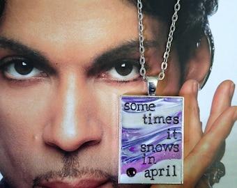 Prince Sometimes It Snows in April Pendant Necklace