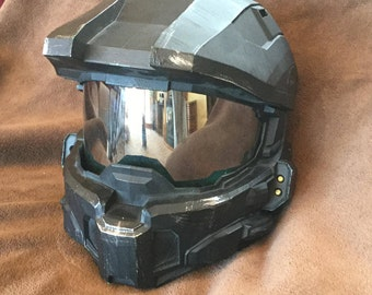 HALO 4 Helmet Black or Red with LED lighting for costume or cosplay