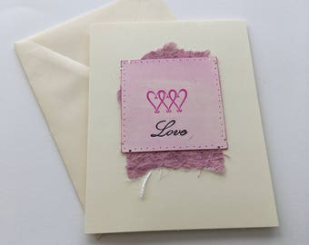 Valentine Triple Heart Note Cards
