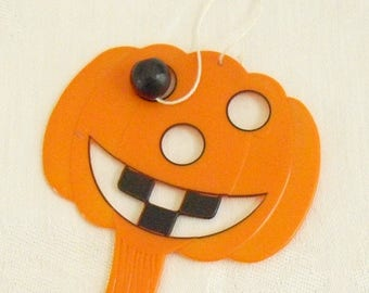 Vintage Jack O Lantern Paddle Board Hand Toy Game, Halloween Game, Decor, Display, Costume, Cake Topper, Eye Hand Coordination Game,  Old