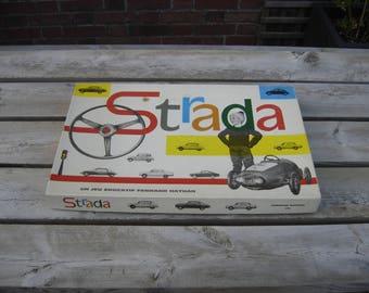 Jeu Strada Fernand Nathan. Old cars game. Voitures. Vintage. France