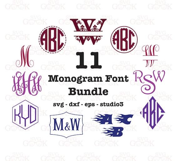 Download Font Bundle SVG Monogram Font Bundle SVG Svg Font Bundle
