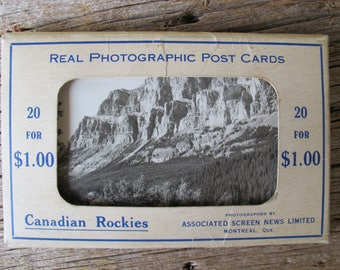 Canadian Rockies Real Photographic Post Cards (set of 20) / Associated Screen News Limited