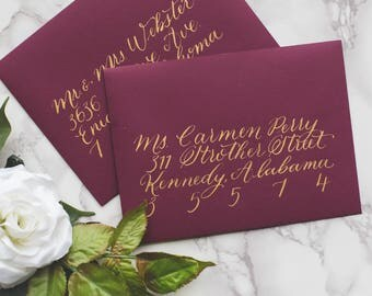 Custom Wedding Calligraphy Envelope Addressing