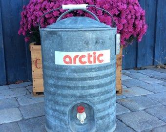 Vintage ARTIC fresh water cooler dispenser fall decor woodman water fountain