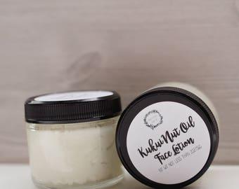 Face Lotion - Kukui Nut Oil Lotion, Kukui Nut Oil, Handmade Face Cream, Vegan Face Cream, Whipped Shea Butter, Shea Butter Lotion