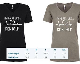 Kick Drum Heart - Avett inspired top