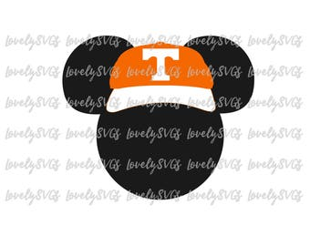 Instant Download SVG Studio3 - Mickey Tennessee Hat - PDF Jpeg File - Silhouette Cricut Design Monogram Volunteers