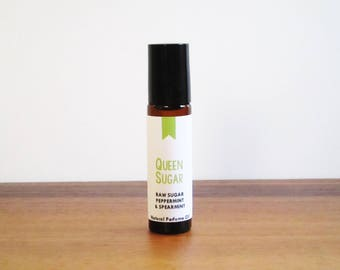 QUEEN SUGAR / Raw Sugar Peppermint & Spearmint / Book Inspired / Modern Fiction Collection / Roll-On Perfume Oil