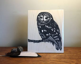 Limited Edition Screenprinted Wall Art : Owl