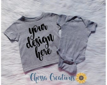 Custom Gray Baby Toddler Shirt, Gray Toddler Shirt, Custom Gray Shirt, Custom Grey Bodysuit, Custom Grey Toddler Shirt, Grey Shirt, Grey