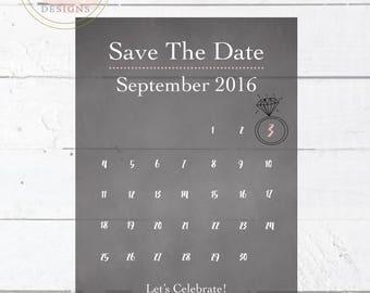 Printable Calendar Save The Date