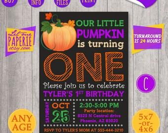 Little Pumpkin Invitation, Pumpkin Birthday, Pumpkin invite, Pumpkin party invite, Fall birthday, Pumpkin First Birthday, Fall Invitation