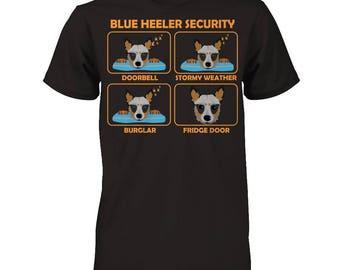 Blue Heeler | Blue Heeler Security | Funny Blue Heeler Shirt