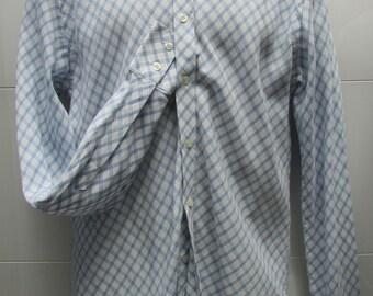 Peter Werth High-Collar Harlequin-check Mod Shirt