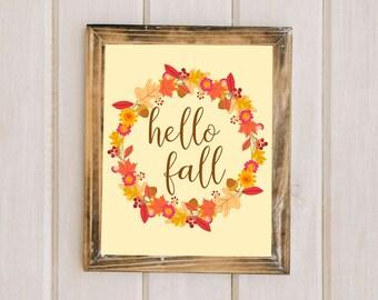 Fall Wall Art gather print fall printable art fall decorations fall