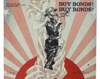 For Your Boy and My Boy Words By Gus Kahn Music By Egbert Van Alstyne Copyright 1918 Sheet Music Large Format