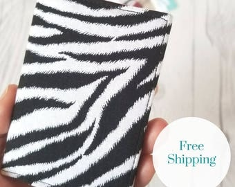 Zebra Wallet, Black White Wallet, Small Wallet, Small Women Wallet, Business Card Wallet, Credit Card Wallet, Credit Card Case, Gift Idea