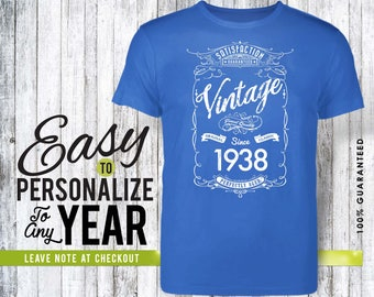 80th birthday, 80th birthday gifts for men, 80th birthday gift, 80th birthday tshirt, 1938, 80th birthday gift for women, vintage 1938, gift