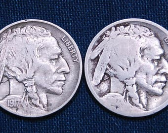 1917 and 1917-S Buffalo Nickels