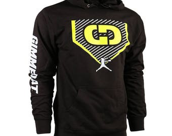 GIMMEDAT Home Plate French Terry Hoodie - Lightweight Softball Hoodies, Softball Sweatshirts - Free Shipping!